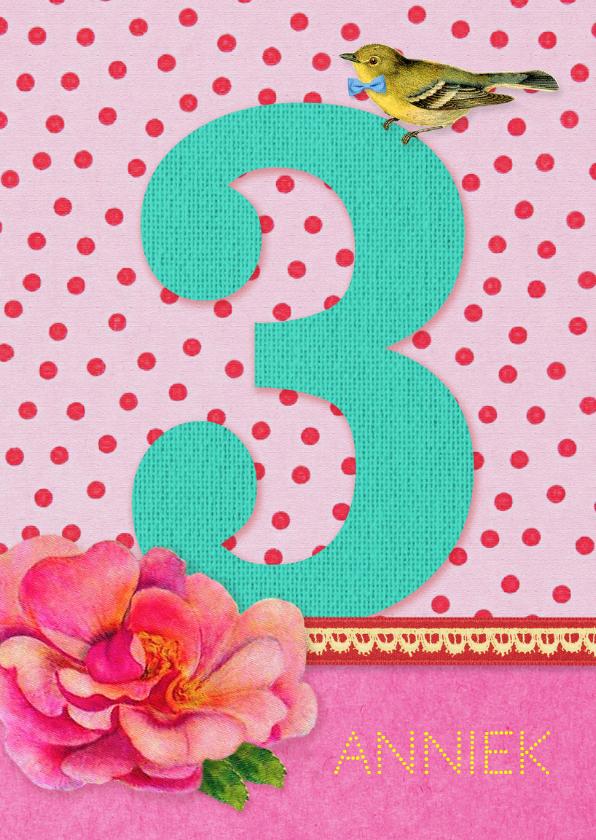 Verjaardag Meisje 3 Verjaardagskaarten Kaartje2go