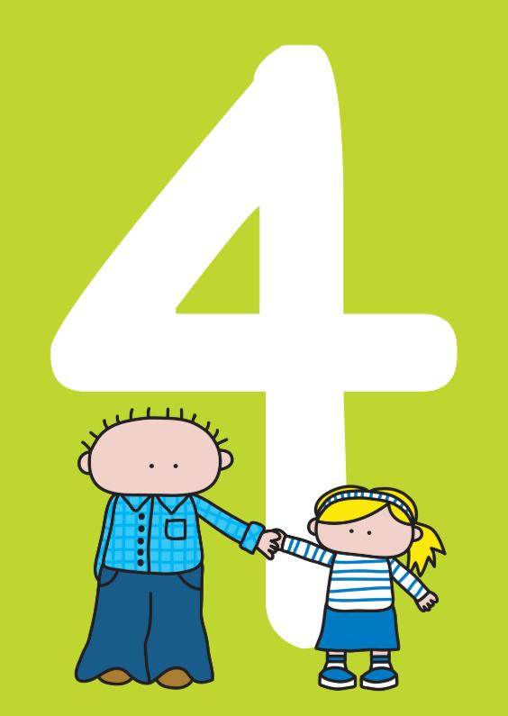 Verjaardagskaarten - Verjaardag Meisje 4 jaar