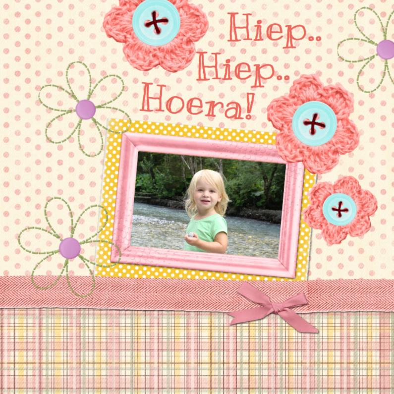 Verjaardagskaarten - verjaardag meisje bloemetjes