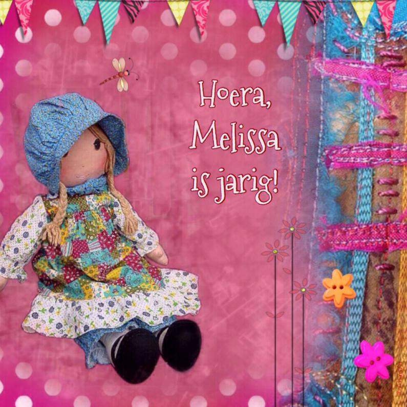 Verjaardagskaarten - Verjaardag meisje pop