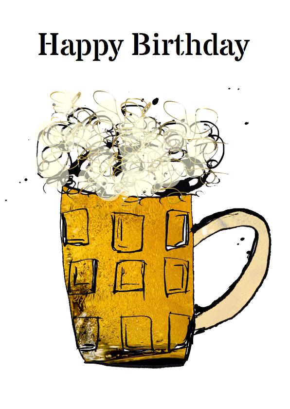 Verjaardagskaarten - Verjaardag met bier mannen