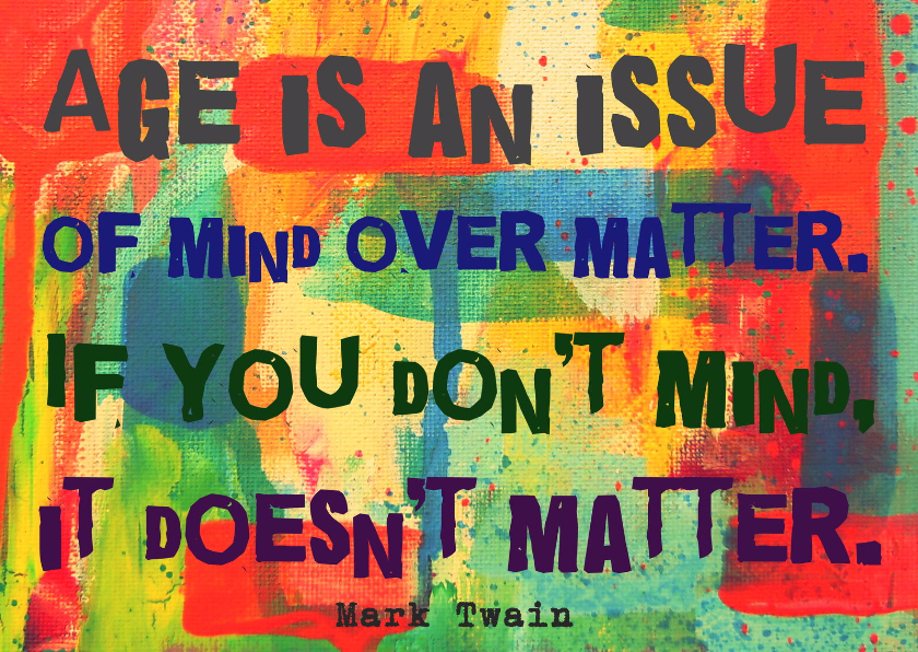 Verjaardagskaarten - Verjaardag mind over matter IW
