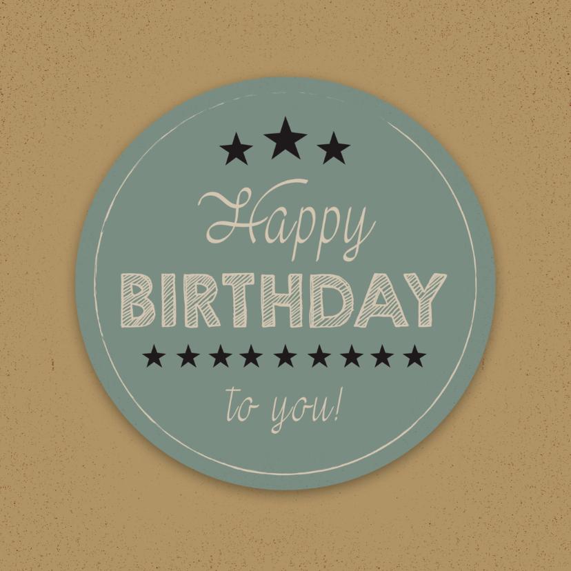 Verjaardagskaarten - Verjaardag minimal retro - SV