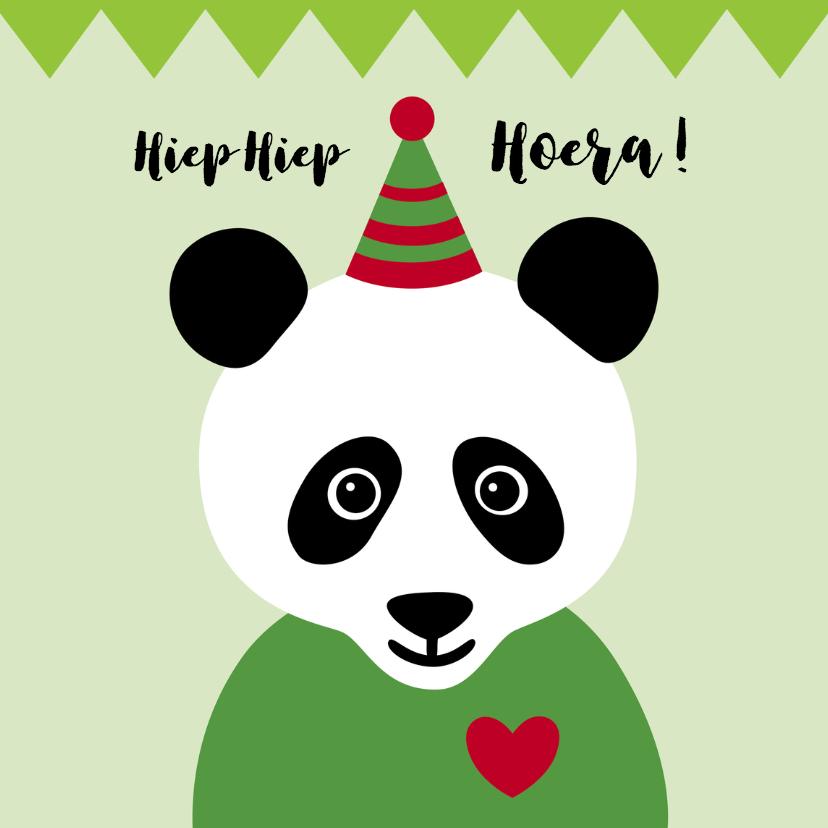 Verjaardagskaarten - Verjaardag-Pandabeer is Jarig-HK