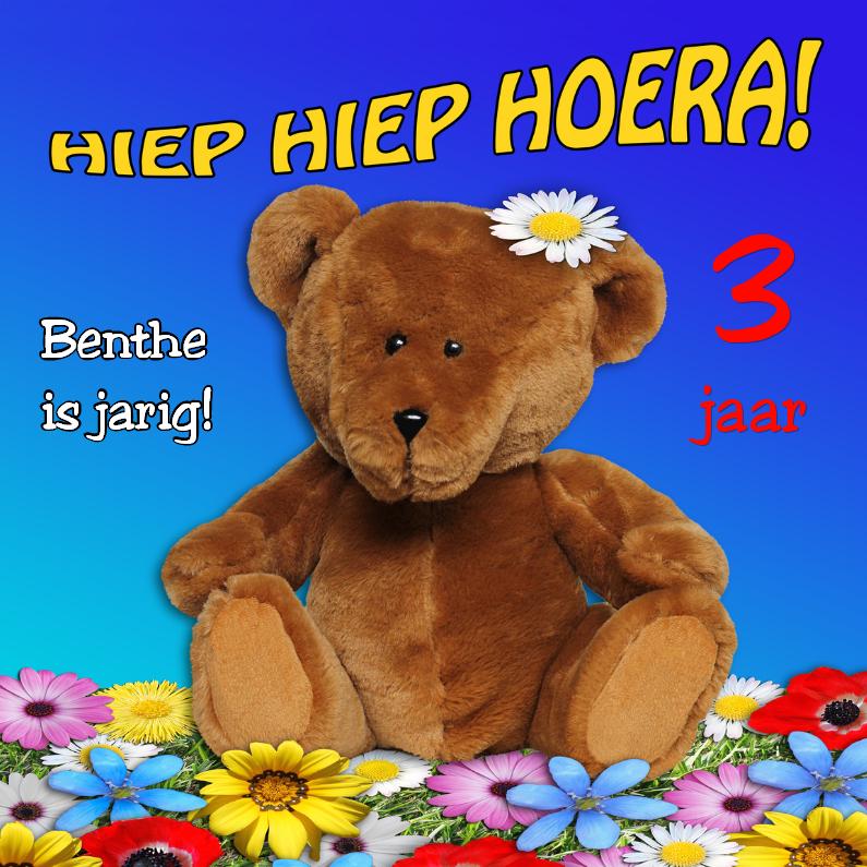 Verjaardagskaarten - Verjaardag peuter, met beer