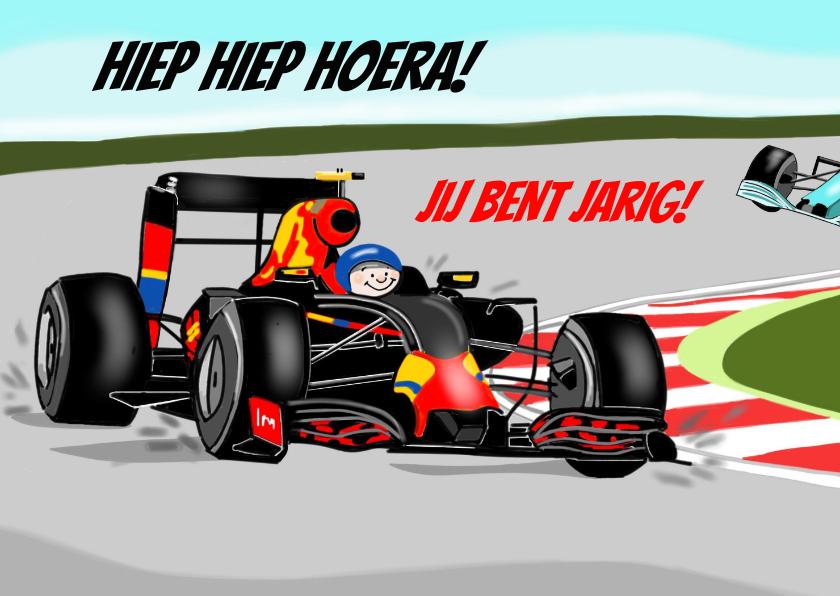 Verjaardagskaarten - Verjaardag - racewagen formule 1