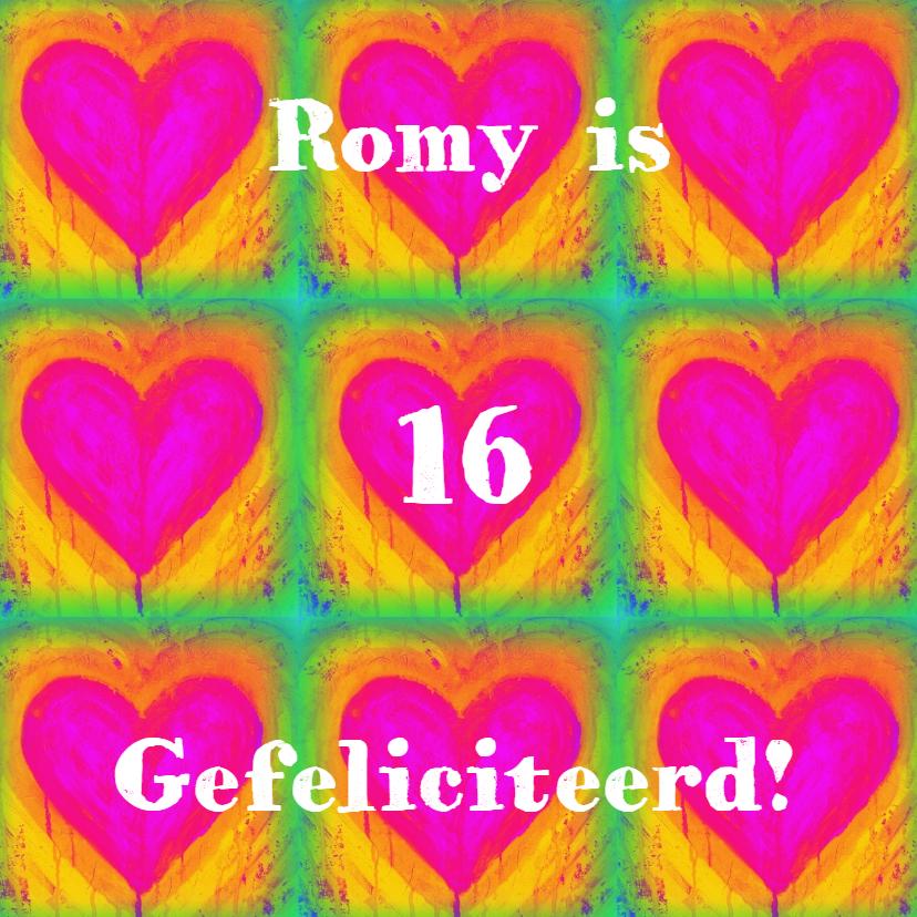 Verjaardagskaarten - Verjaardag Regenboog Geluk IW