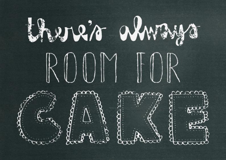 Verjaardagskaarten - Verjaardag Room for Cake