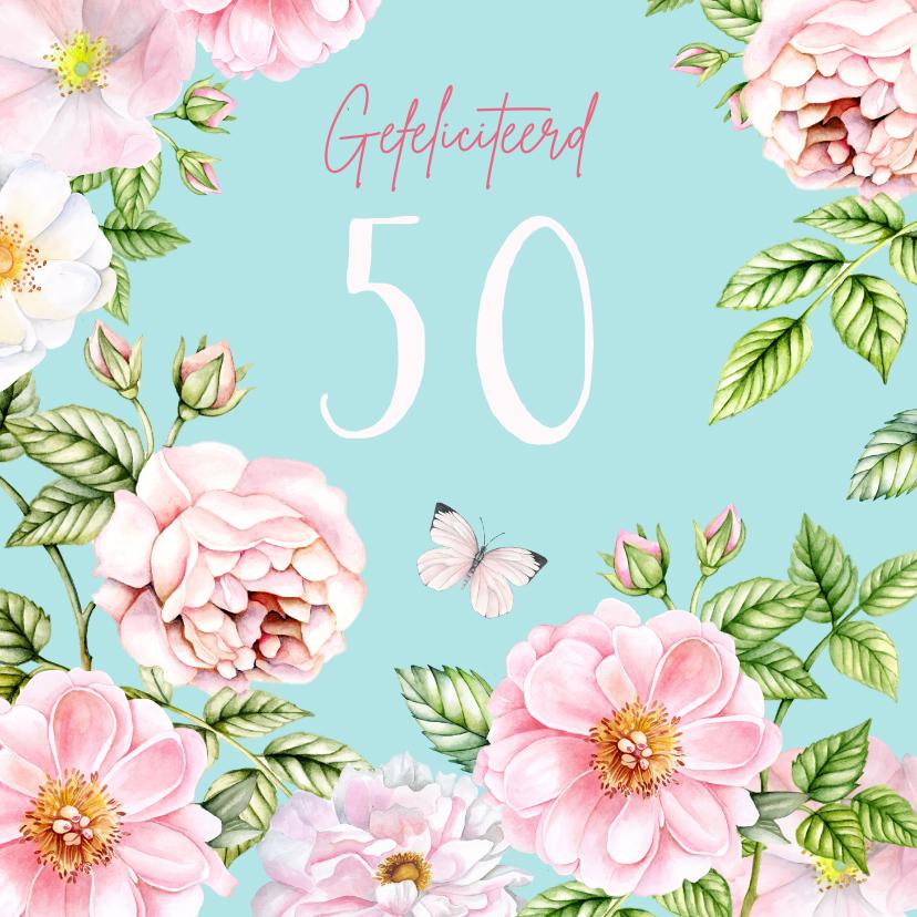 Verjaardagskaarten - Verjaardag rozen