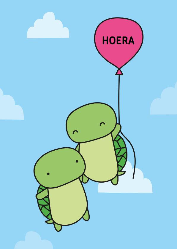 Verjaardagskaarten - Verjaardag Schildpadjes