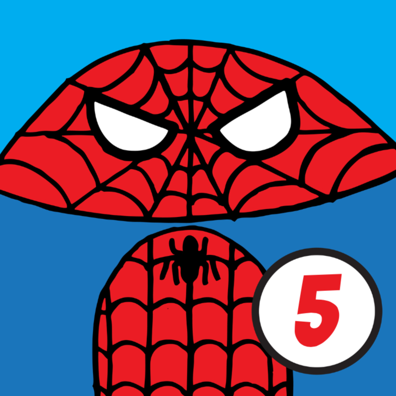 Verjaardagskaarten - verjaardag spiderman
