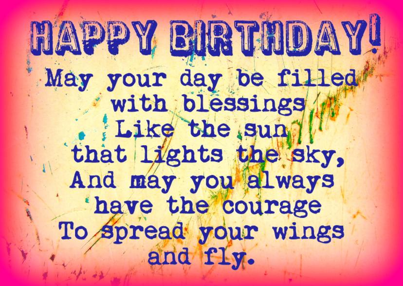 Verjaardag spread your wings IW  1