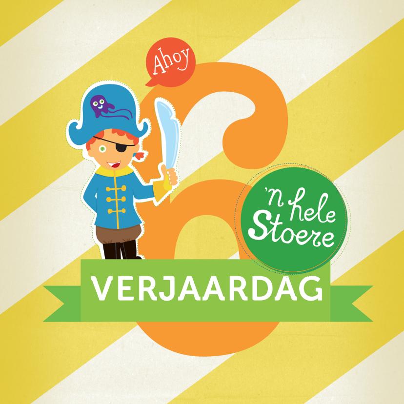 Verjaardagskaarten - Verjaardag STOER ZES