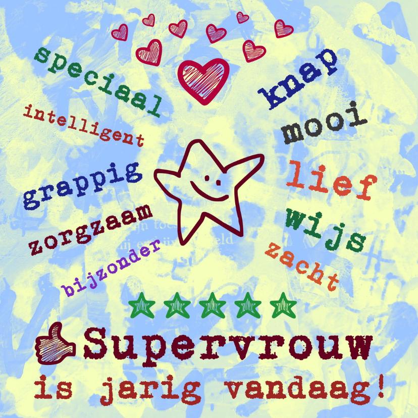 Verjaardagskaarten - Verjaardag Supervrouw IW