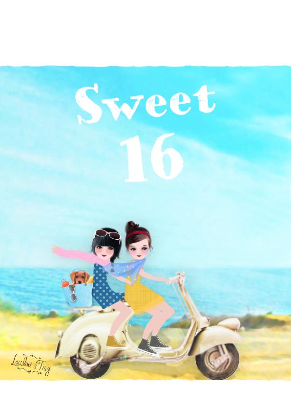 Verjaardagskaarten - Verjaardag Sweet 16 -LT
