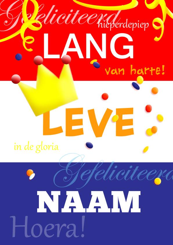 Verjaardagskaarten - Verjaardag vlag met naamkaart