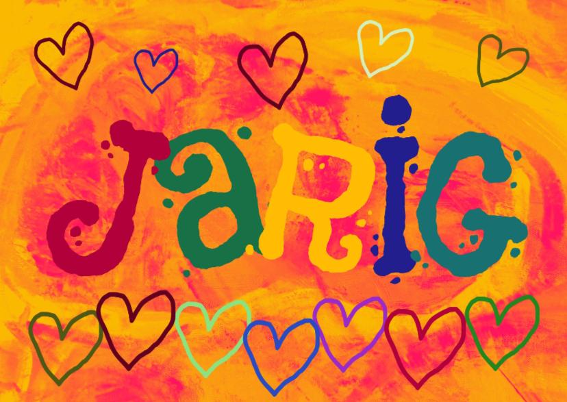 Verjaardagskaarten - Verjaardag vrolijke hartjes IW