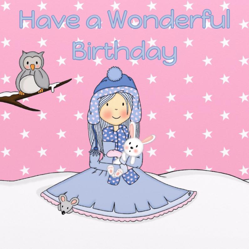 Verjaardagskaarten - Verjaardag Winter Prinses - TbJ