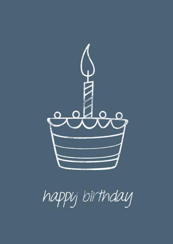 Verjaardagskaarten - Verjaardagkaart happy birthday cake