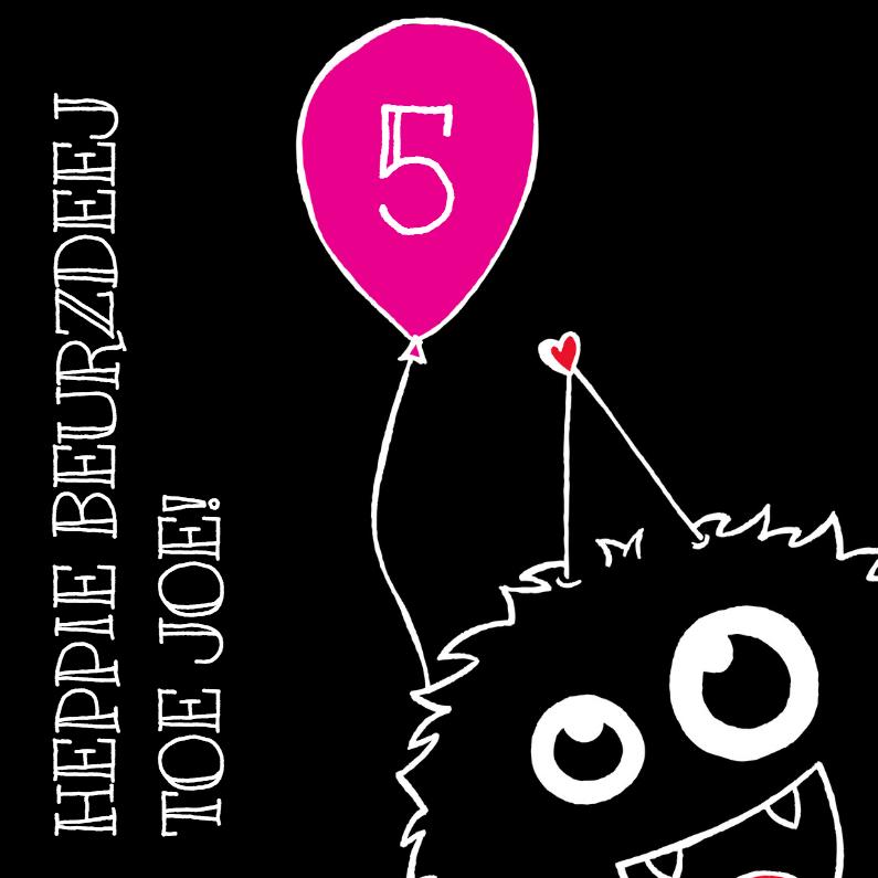 Verjaardagskaarten - Verjaardags monster Meisje
