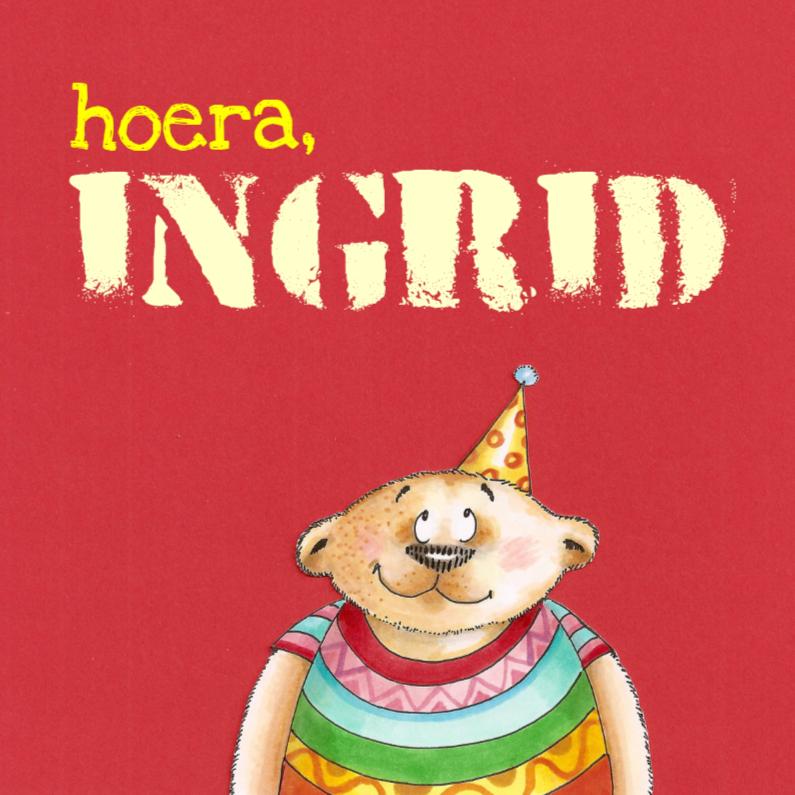 Verjaardagskaarten - Verjaardagsbeer