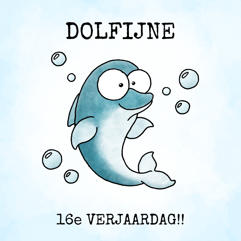 Verjaardagskaarten - Verjaardagsfelicitatie - Dolfijne verjaardag!