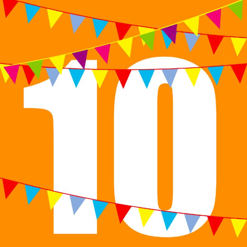 Verjaardagskaarten - Verjaardagskaart 10 met vlaggen