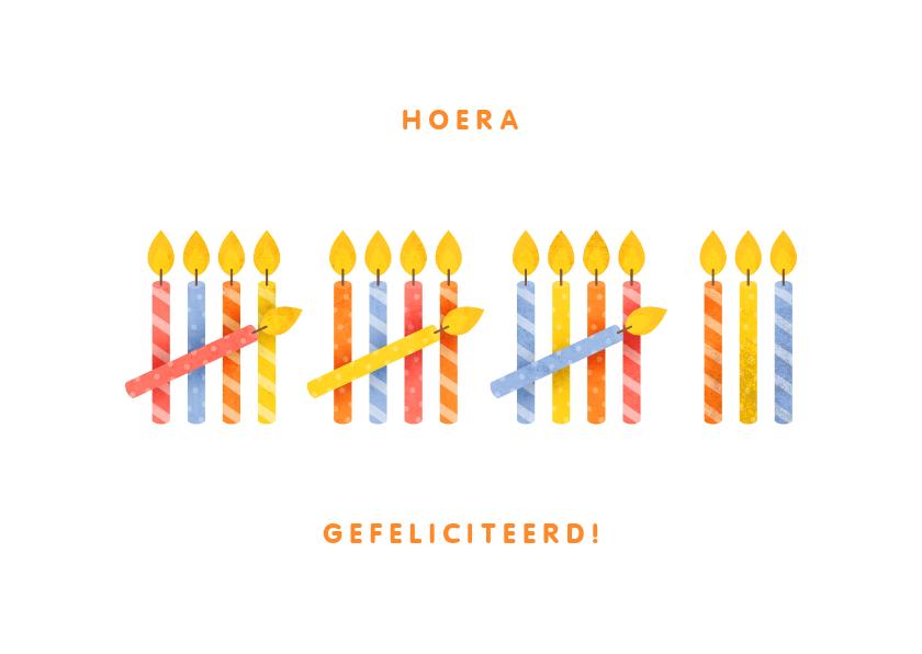 Verjaardagskaarten - Verjaardagskaart 18 kaarsjes
