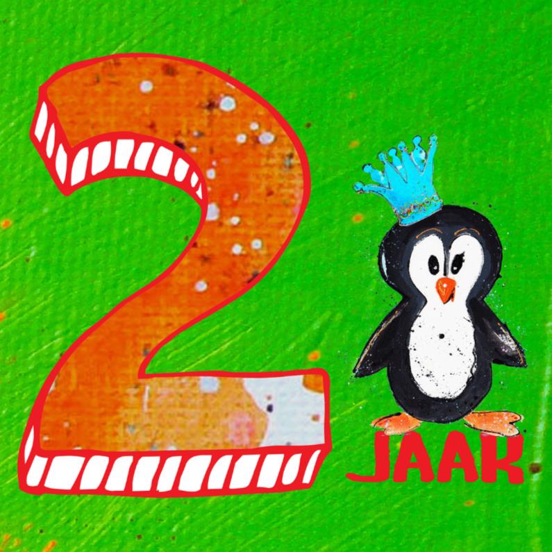 Verjaardagskaarten - verjaardagskaart 2 jaar