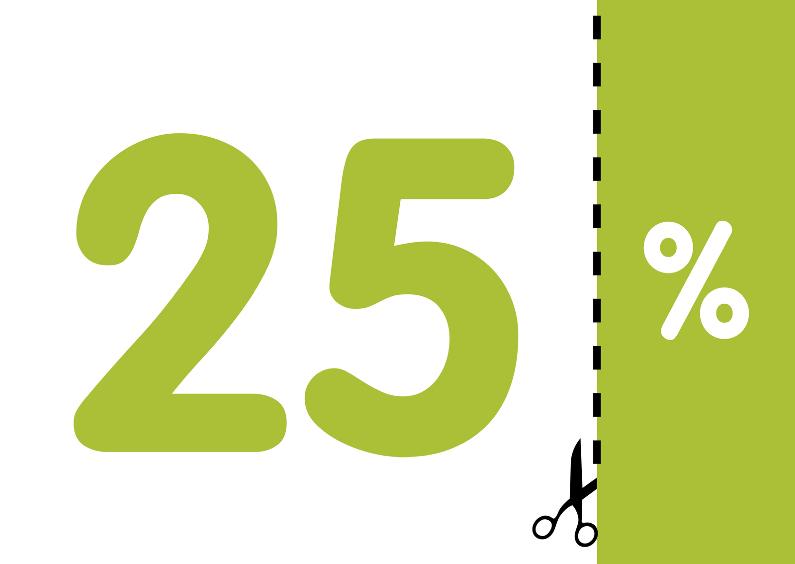 Verjaardagskaarten - Verjaardagskaart 25% groen - OT
