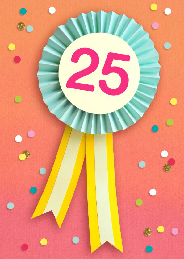 Ongebruikt Verjaardagskaart 25 jaar vaantje | Kaartje2go KL-02