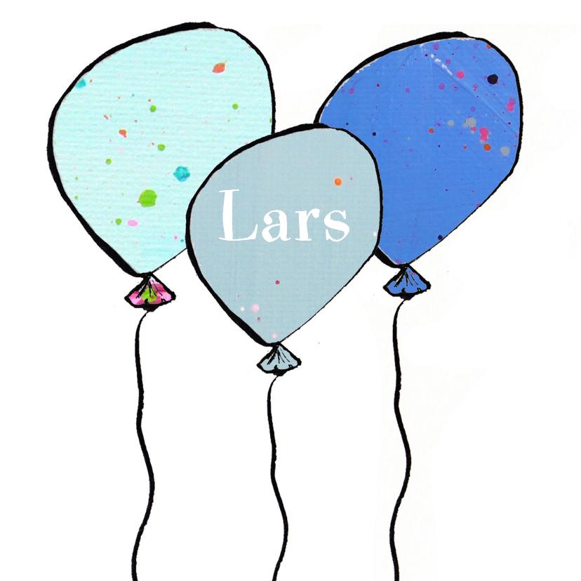 Verjaardagskaarten - Verjaardagskaart 3 ballonnen