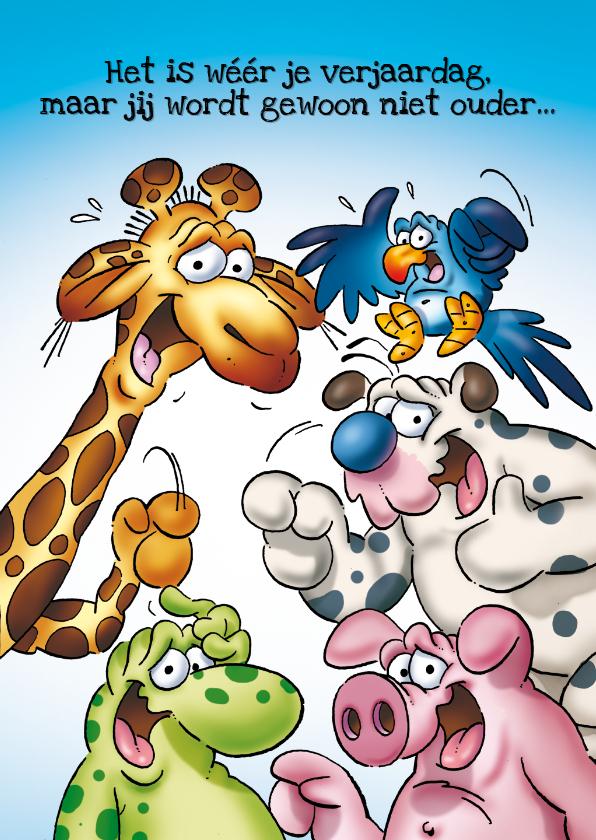 Verjaardagskaarten - Verjaardagskaart 39 groep dieren