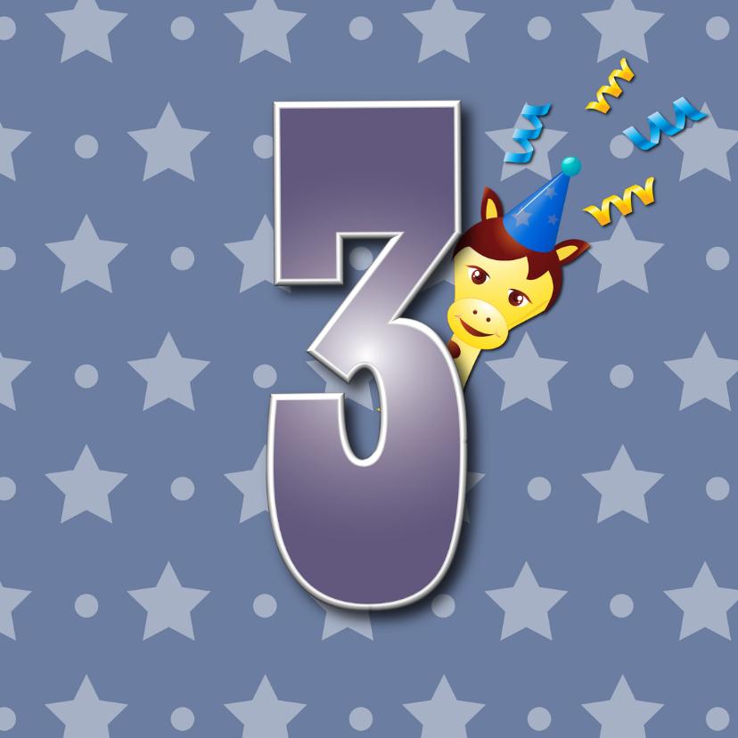 Verjaardagskaarten - verjaardagskaart 3jaar