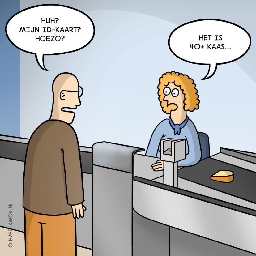 Verjaardagskaarten - Verjaardagskaart 40 jaar met grappige cartoon