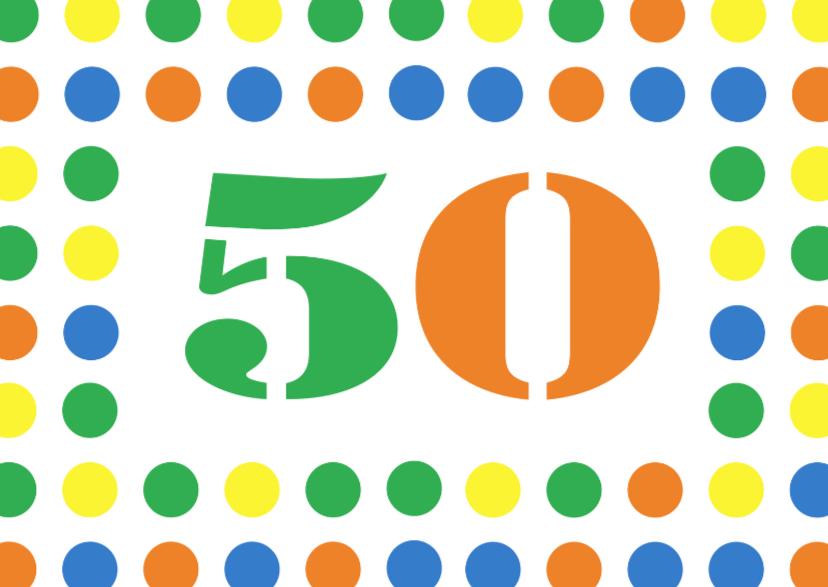 Verjaardagskaarten - verjaardagskaart 50jaar