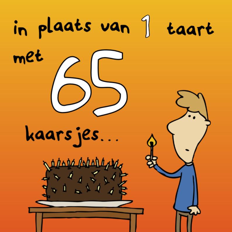 Verjaardagskaarten - Verjaardagskaart 65 Taartjes