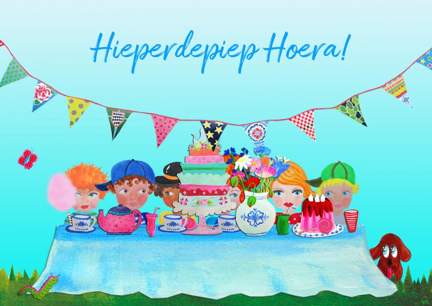 Verjaardagskaarten - Verjaardagskaart Aan Tafel PA