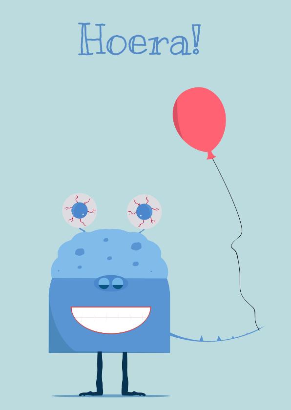 Verjaardagskaarten - Verjaardagskaart Afro monster