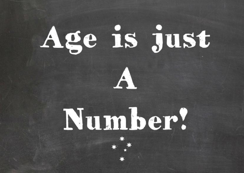 Verjaardagskaart  Age is just 1