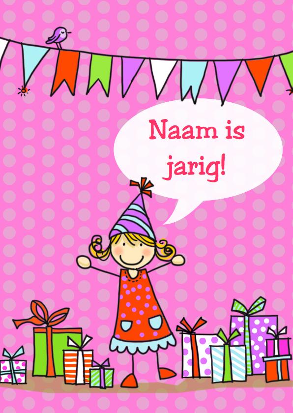 Verjaardagskaarten - Verjaardagskaart Anke met tekstballon