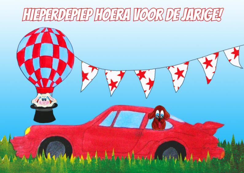 Verjaardagskaarten - Verjaardagskaart Auto PA