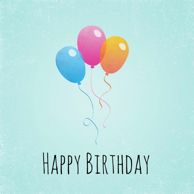 Verjaardagskaarten - Verjaardagskaart Ballon 99