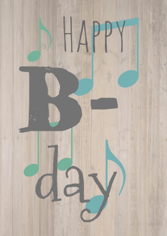 Verjaardagskaarten - verjaardagskaart Bday