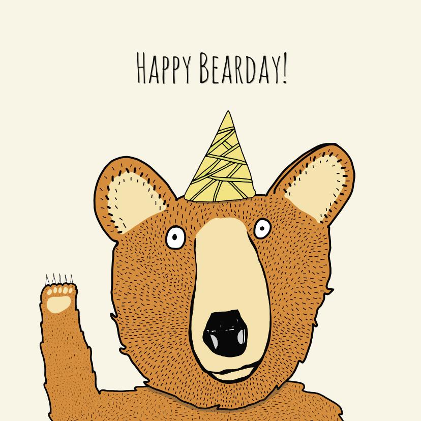 Verjaardagskaarten - Verjaardagskaart Beardag!