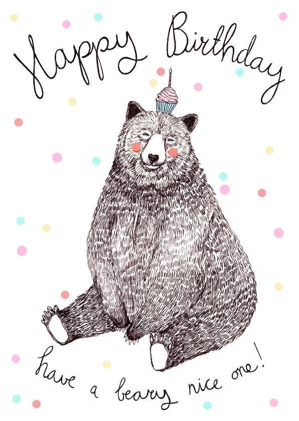 Verjaardagskaarten - Verjaardagskaart Beer - RG