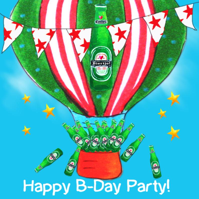 Verjaardagskaarten - Verjaardagskaart Bier Ballon PA