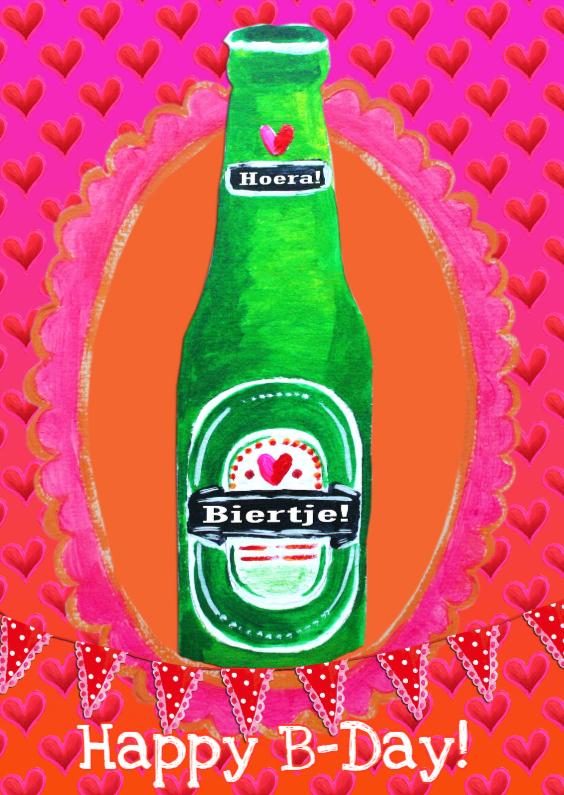 Verjaardagskaarten - Verjaardagskaart Bier Vrouw PA