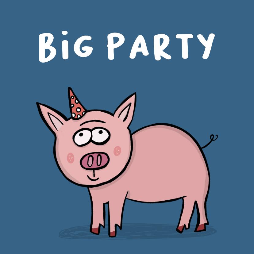 Verjaardagskaarten - Verjaardagskaart Big Party!!!