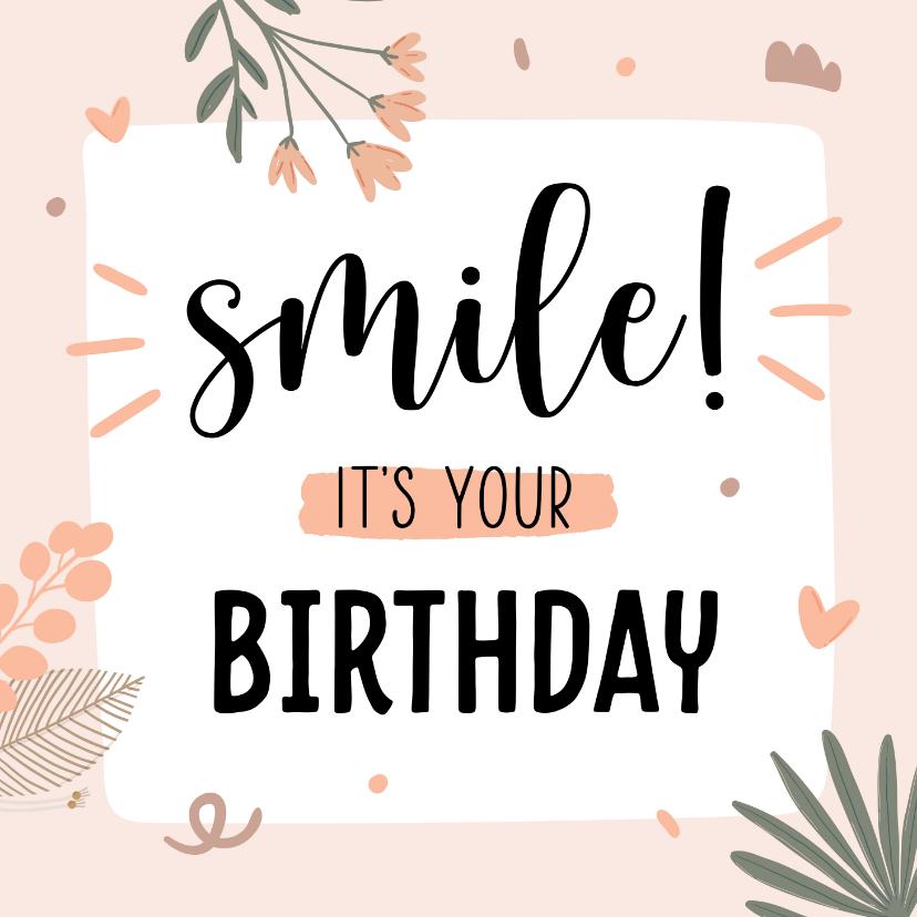 Verjaardagskaarten - Verjaardagskaart birthday smile